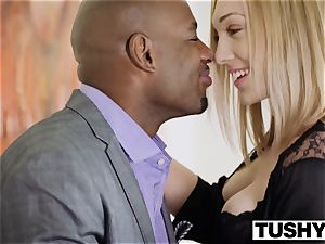 TUSHY ample ebony fuckpole stretches wifes pucker