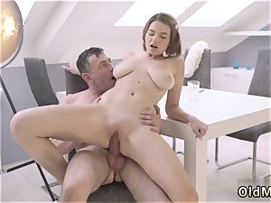 fuckfest and submission gangbang older brainy gentleman with a youthful jaw-dropping gal