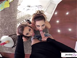 Abigail Mac and Jessica get pulverized in many positions