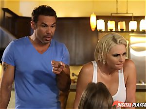 Family hookup lessons with stepmom and step-dad - Phoenix Marie and Alexis Adams