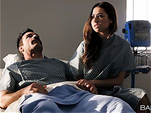 Melissa Moore cummed on by hung patient in medical center