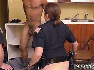 fledgling youthful cuckold milf black masculine squatting in home gets our cougar officers