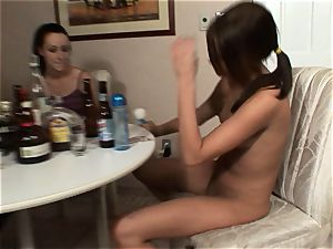 Meggan Powers plays with her raw cooter after getting drunk