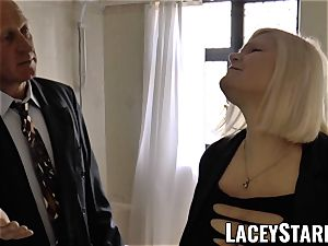 LACEYSTARR - Mature English babe plowed and facialized