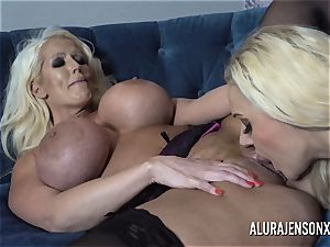 Alura and her huge-boobed lezzie acquaintance Dolly get ultra-kinky