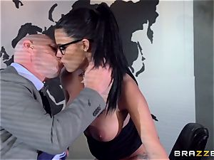 thick breasted Peta Jensen boned across the boardroom table