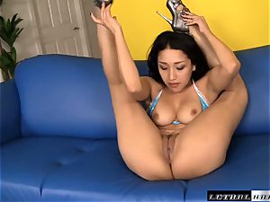 pliable banger Vicki chase takes a total length filling