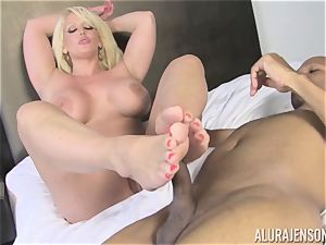 Lusty Alura Jenson attempts the rod of her martial arts teacher