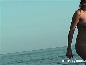 An fine spy webcam naked beach hidden cam flick