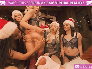 VRBangers Christams romp With Eight fantastic Elves