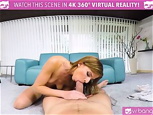VR PORN-Hot red-haired Take a ginormous schlong and loves it