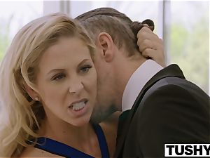 TUSHY Blair Williams Has A hot rectal Lesson threeway With Her manager