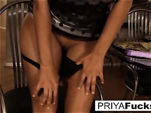 Priya makes herself all steamy and bothered