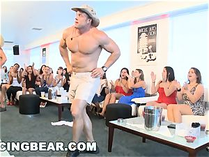 CFNM hotel soiree with gigantic sausage masculine Strippers
