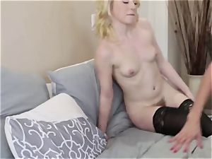 Adult male tears up his fresh wife Alexis Fawx and her daughter