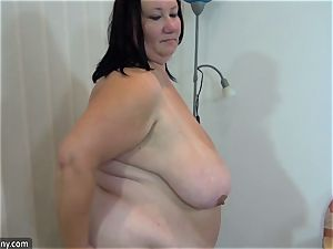 OldNanny plus-size grannie toying compilation