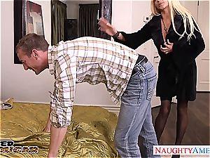 Nikita Von James salutes his member in her coochie
