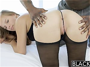 gorgeous Jillian Janson takes a ebony full salute in her taut culo