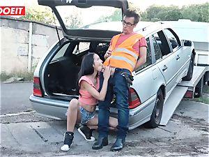 LETSDOEIT - teenager boinks aged boy For Free Car Repair