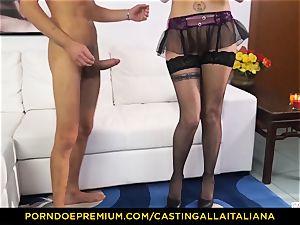casting ALLA ITALIANA - Blue-eyed doll gets ass fucked