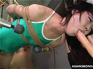 japanese bound up to be sexually tormented by some freaks