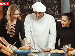 LETSDOEIT - intercourse Cooking With stunners Apolonia and Angel