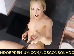 LOS CONSOLADORES - Hungarian light-haired gets penetrated point of view