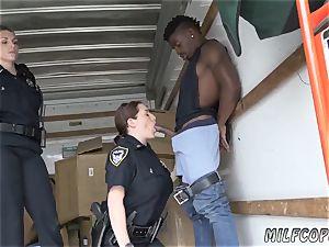 bankrupt milf buttfuck and internal ejaculation hd dark-hued suspect taken on a rough ride