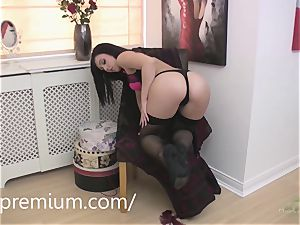 Kacie James milking in front of you