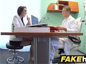 faux clinic Doctors man sausage spreads torrid Portuguese stunner