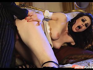 Tina kay has ample blast on her jaw-dropping lovely face from frankenstein