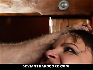 DeviantHardcore-Hot milf pawed and manacled To Cross