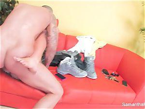 Samantha Saint gets her tight pinkish gash porked