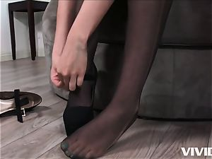 super-naughty Melissa Moore hops On A yam-sized black manhood
