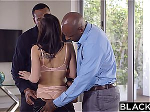 BLACKED splendid student Aidra Fox Takes 2 BBCs