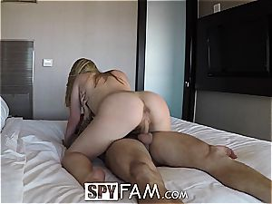 SpyFam Step step-sister Alyssa Cole wants step step-brother penis