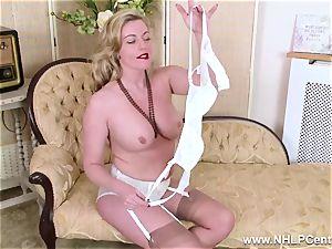 light-haired mummy unclothes off retro underwear porks edible vagina