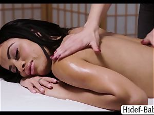 super-hot masseur Darcie Dolce massage Victoria chubby so romantic and tongues her vag