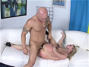 Getting screwed by Derrick Pierce on the bed