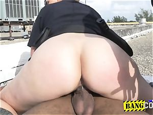 voyeurism tom is forced into sticking cougar cops beaver in doggie