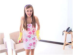 OPERACION LIMPIEZA - teenager Latina maid gets boned rigid