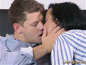 Dane Jones insane dark-hued haired Russian has creampie