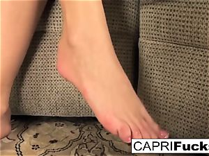 Capri plays with her vagina and feet