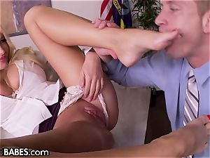 ginormous melons Office cougar Uses feet to penalize employee