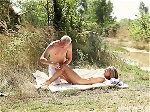 blond nubile beautiful joy in the sun