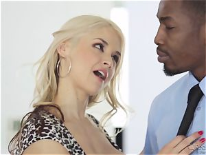 thirsty wifey Sarah Vandella gets her appetite suppressed by big black cock