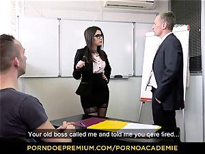 porn ACADEMIE - educator Valentina Nappi MMF three way