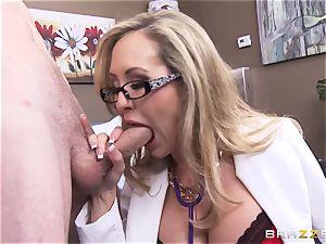Rock stiff patient gets drilled by medic Brandi enjoy