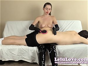 female dominance smacking his caboose with my hairbrush forearms..