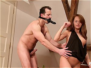 Planting that slit stiffly on his face